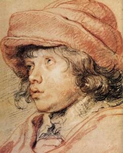 Dibujo a las tres tizas, dibujo trois crayons, metodo giotto, cursos de dibujo y pintura , Rubens