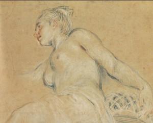 Dibujo a las tres tizas, dibujo trois crayons, metodo giotto, cursos de dibujo y pintura , Watteau