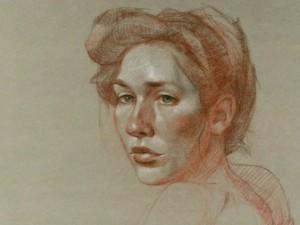 Dibujo a las tres tizas, dibujo trois crayons, metodo giotto, cursos de dibujo y pintura ,m