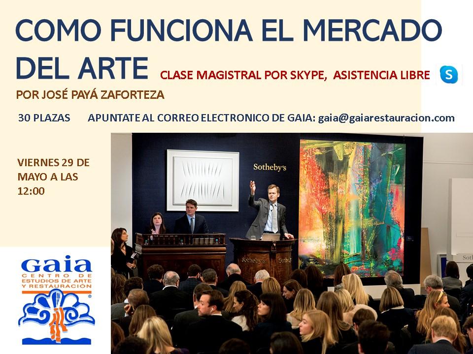 ¿Quieres aprender cómo funciona el mercado del arte? Nueva clase gratuita por Skype el viernes 29 de mayo