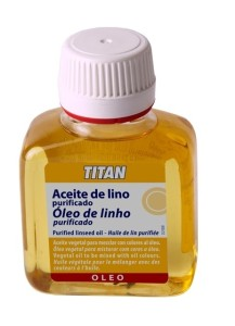 Aglutinante de pintura al óleo: aceite de linaza