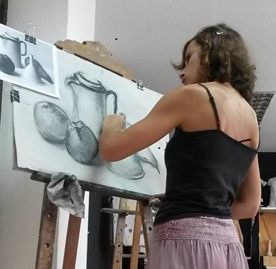 foto Gaia curso dibujo y pintura metodo Giotto