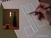 <strong>3 </strong>Dibuja el eje vertical de cada   objeto.