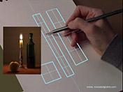 <strong>4 </strong>Dibuja los ejes horizontales que  te señalan la sección de cada tramo del   objeto.