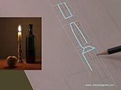 <strong>6 </strong>Dibuja por segmentos el contorno externo del objeto