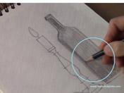 <strong>9 </strong>Con el mismo lápiz y tramas cruzadas, crea la trama de oscuros.