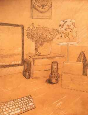 7 Dibuja una escena interior o bodegón