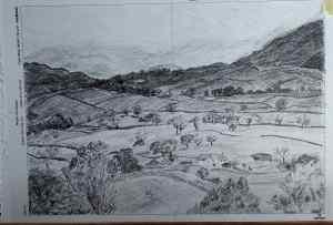4 Dibuja un paisaje mediante tramas
