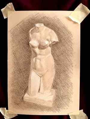 6 Dibuja una figura humana a tres tintas