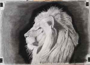 6 Dibujo de mancha: Dibujando un león