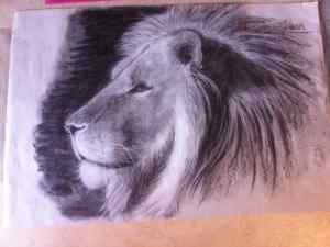 4 Dibujo de mancha: Dibujando un león