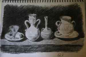 3 Dibuja un bodegón mediante tramas